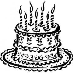 tampon Gâteau d'anniversaire n°2