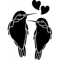 tampon Couple oiseaux