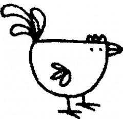 tampon Coq