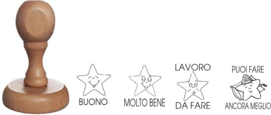 Pack de 4 tampons évaluations italien