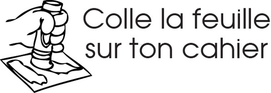 tampon n°260: Colle la feuille 48x16 mm