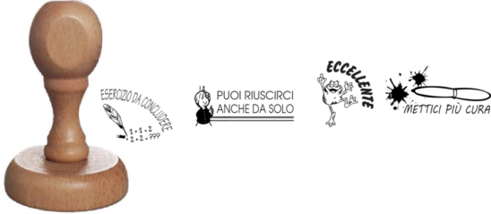 Pack de 4 tampons évaluations italien 5