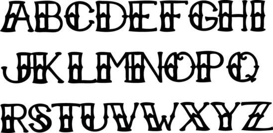 Tampon tatouage éphémère Lettre de l'alphabet n°1