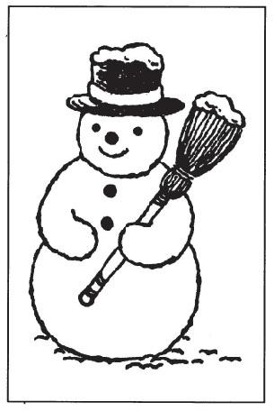 tampon Bonhomme de neige n°1