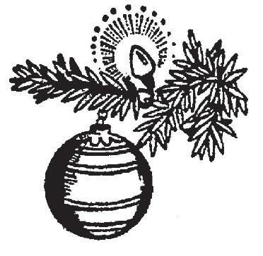 tampon Boule de Noël