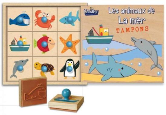 Coffret en bois pour enfant La mer