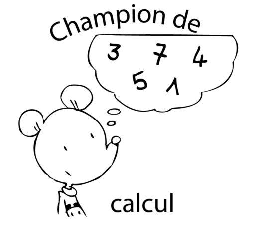 Tampon en bois Champion de calcul n°291