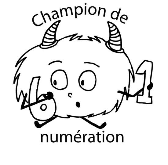 Tampon en bois Champion de numération n°290