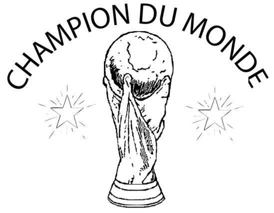 Tampon en bois Champion du monde n°288