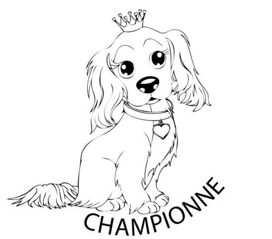 Tampon en bois Championne n°287