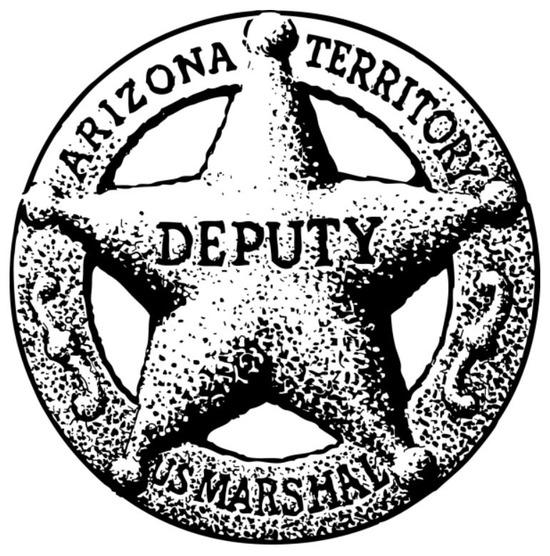 Tampon en bois western étoile de shérif