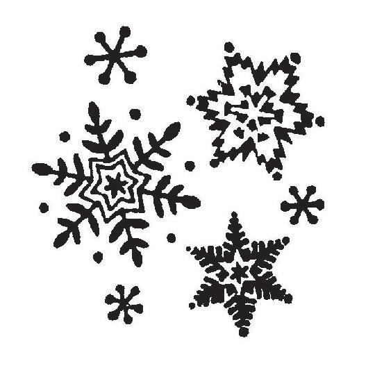 tampon Flocons et étoiles pour déco Noël