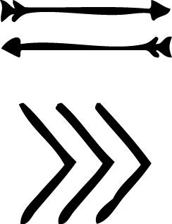 Tampons tatouages éphémères Flèches