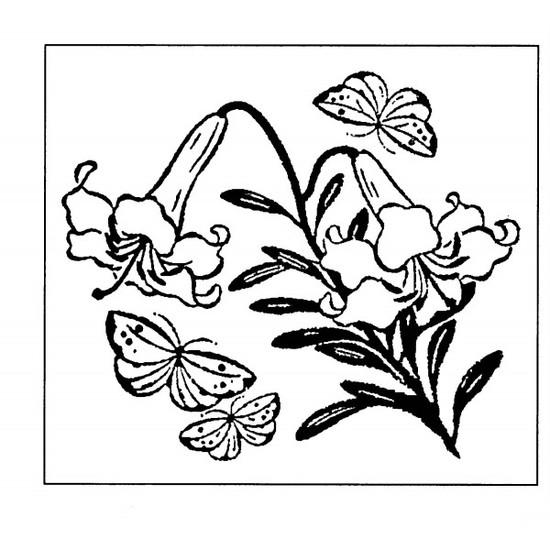 tampon Fleur estampe japonaise