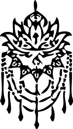 Tampon tatouage éphémère Fleur de lotus