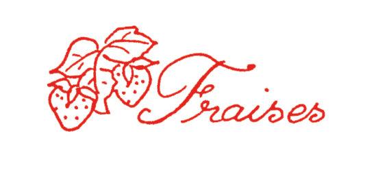 Tampon en bois Confiture de fraises