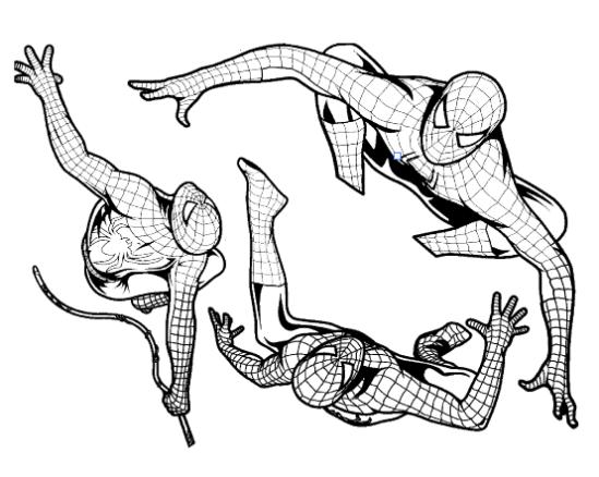 Lot tampons tatouages éphémères Spider-man