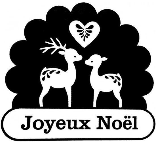 tampon Joyeux Noël des rennes