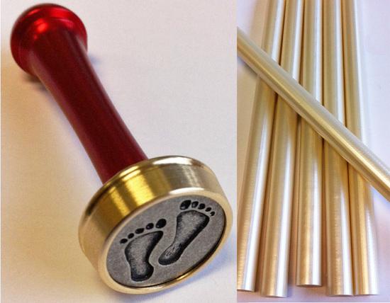 Kit cachet à cire décoratif avec bâton de cire