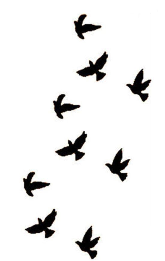 Tampon tatouage éphémère Oiseaux