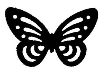 Tampon en bois Papillon n°5
