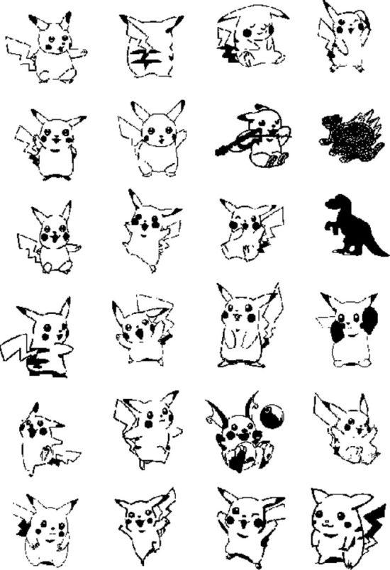 Tampons tatouages éphémères Pikatchu