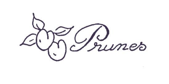Tampon en bois Confiture de prunes