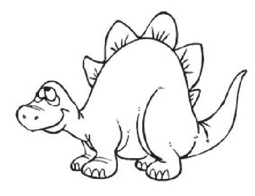 Tampons en bois Stégosaure