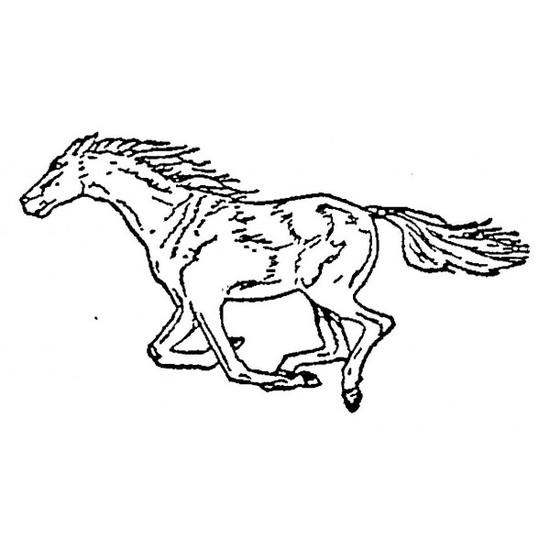 Tampon en bois Cheval au galop