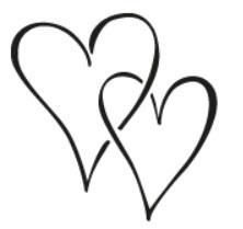 Tampon en bois Cœurs