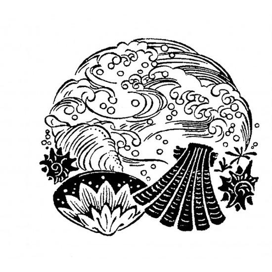 tampon Coquillage art japonais