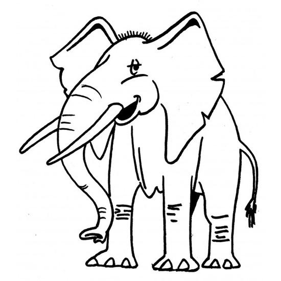 Tampon en bois Eléphant n° 1