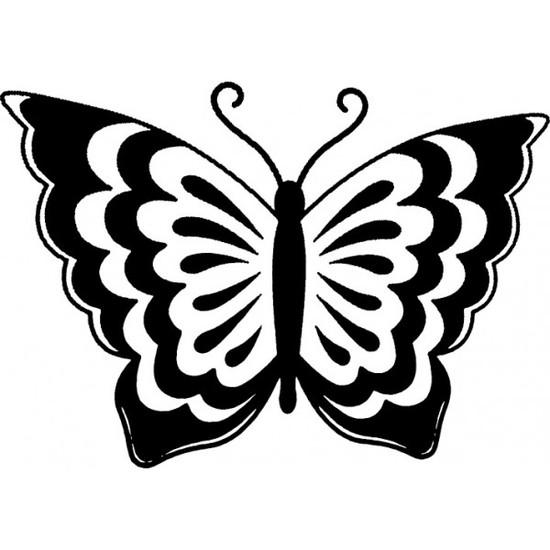 Tampon en bois Papillon n°6