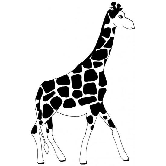 Tampon en bois Girafe