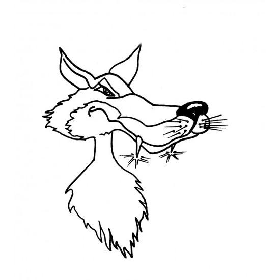 Tampon en bois Grand mechant loup