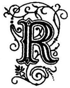 tampon INITIALE DECOREE R