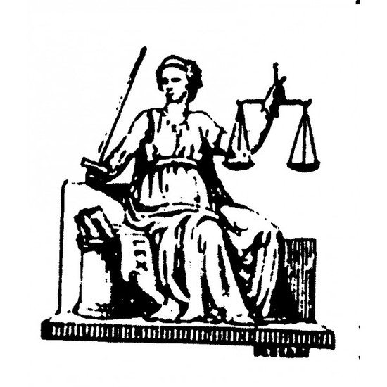 Tampon en bois Justice