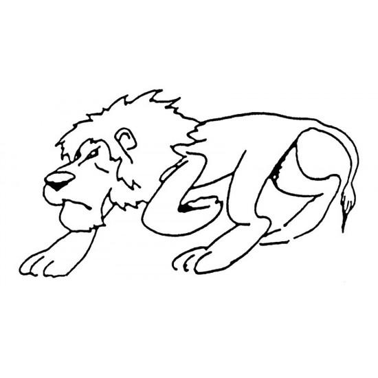 Tampon en bois Lion