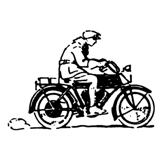 tampon Motocycliste