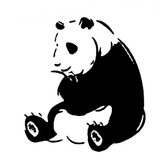 Tampon en bois Panda
