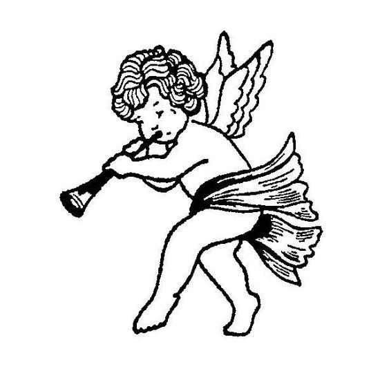 tampon Petit ange à la flûte