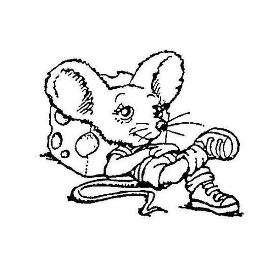 Tampon en bois Petite souris