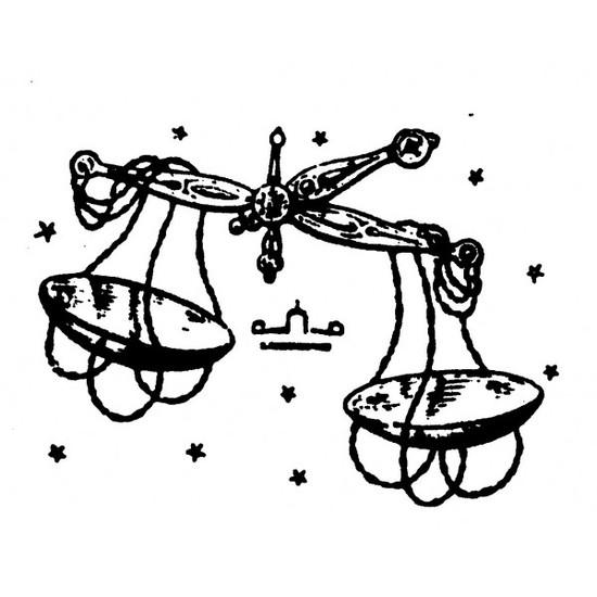 tampon Signe du zodiaque balance