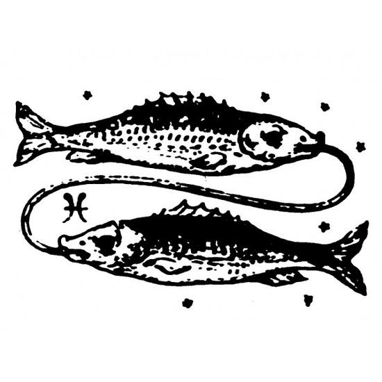 tampon Signe du zodiaque poissons