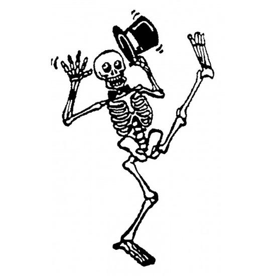 Tampon en bois Squelette