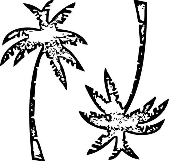 Tampons tatouages éphémères Palmiers n°1