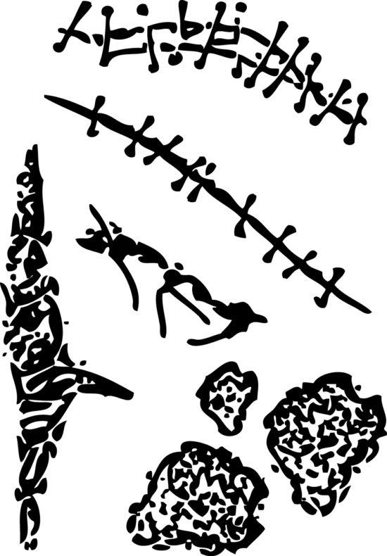 Tampons tatouages éphémères Cicatrice n°2