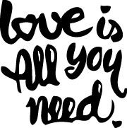 Tampon tatouage éphémère Love is all you need