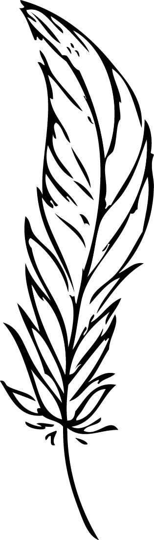 Tampon tatouage éphémère Plume