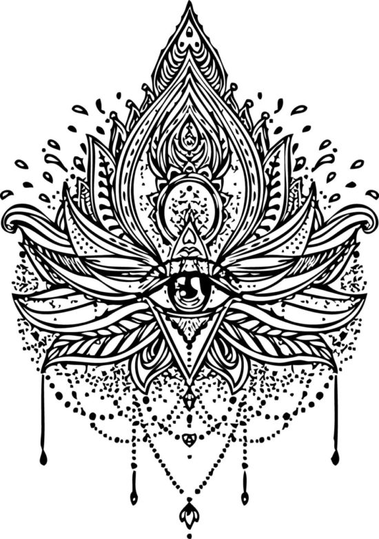 Tampon tatouage éphémère Mandala